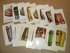 Tramcyclopedia Tramcars & Tramways & Trackless Trams Complete 60 Card Collection