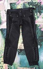 Karen Millen England Brand Black Pants W/ Corset Lace Up Detail Sz UK 12 US 8 M