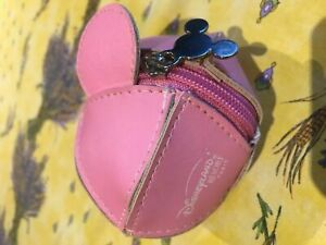 Disney Mickey Mouse Coins Holder Purse Wallet Clutch PINK