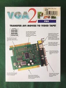VGA 2 PAL PRO Transfer AVI Movies To VHS Vintage PC ATM Card ICA PCI Windows DOS