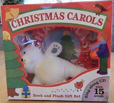 Christmas Carols Book, CD, + Plush Gift Set