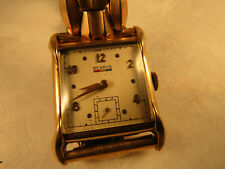 Big square ba4 17 jewel Benrus square watch runs and stops for restoration parts