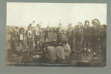 Pine Ridge SOUTH DAKOTA RP1908 SIOUX INDIANS Two Strike Band S.D. BUTCHER Indian