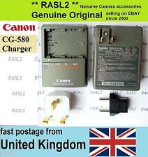 Genuine Canon charger,cg-580 PowerShot G6 G5 G3 G2 G1 MV450 zri ZR 65 70MC PRO1