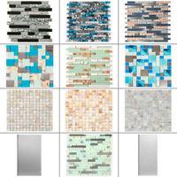 Glass Backsplash Tile Mosaic Tile Peel and Stick Tile for Kitchen Bathroom