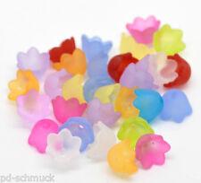 300 Mix Acryl  Blume Perlen Beads Ende Kappen