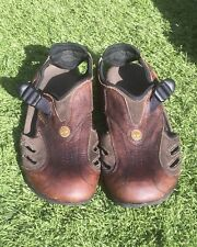 TIMBERLAND MENS BROWN GENUINE LEATHER CLOSED TOE SANDALS SIZE 9