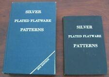 2 Volumes Silverplated Flatware Patterns Davis & Deibel 1972 & 81 Supplement &