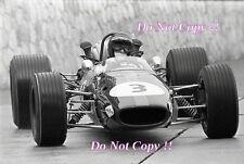 Jochen Rindt Brabham BT24 Monaco Grand Prix 1968 Photograph 2