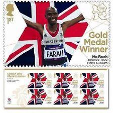 UK Team GB Gold Medal Winner Miniature Sheet - Mo Farah Men's 10000m MNH 2012
