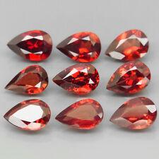 Pear Shape 9x6 mm.Attractive Color Natural Red Mozambique Garnet 9Pcs/12.65Ct.