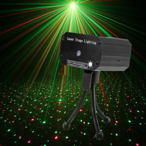 Star Pattern Laser Projector Stage Light LED RG Party KTV Club DJ Disco Lights