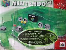 Nintendo 64 Launch Edition Jungle Green Console + 4 games + 2 OEM PS4 controller