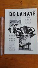 PUBLICITE ANCIENNE - PUB ADVERT 1934 Auto Delahaye dos orfèvrerie Perrin
