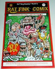 "RAT FINK COMIX   #1  ED ""BIG DADDY"" ROTH  VERY HARD TO FIND  FREE SHIPPING"