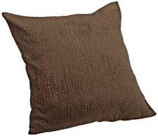 Calvin Klein Bark Tea Flower Euro Pillow Sham Brown Embroidered Rows