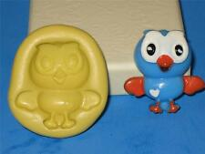 Hoot the Owl Giggle and Hoot 2D Push Mold Food Safe Silicone A105 Cake Topper