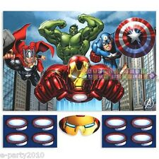 AVENGERS ASSEMBLE PARTY GAME POSTER ~ Birthday Supplies Room Wall Decorations