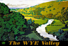 Art ad Wye Valley GWR Tren Ferrocarril viajar cartel impresión