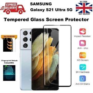 Full Glue Fingerprint Compatible Glass Screen Protector for Samsung S21 Ultra 5G