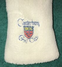 Canterbury Golf Club Vintage Driver Wood Metal Headcover Head Cover ++ Excellent
