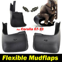 MUDFLAPS FIT FOR 07-13 TOYOTA COROLLA ALTIS 4DR MUD FLAPS SPLASH GUARD MUDGUARDS