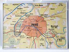 Cadre neuf Plan de Paris affiche scolaire d'époque Rossignol déco vintage