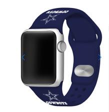 Dallas Cowboys Navy Silicone Sport Apple Watch Band Blue 38/40MM NEW nfl  nwt