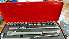 """GORDON TOOLS Socket  Set. No. GT23. METRIC and AF 1/2"""" Drive MADE IN SHEFFIELD"""