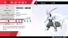 Set* Ultra Shiny 6IV EV Trained Timid Kyurem White Pokemon Sword/Shield + Items