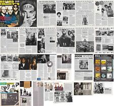 R.E.M. : CUTTINGS COLLECTION -interview adverts- clippings