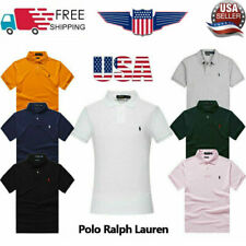 Polo Ralph Lauren Short Sleeve Slim Fit Casual Lapel Mens Adult Shirt Authentic