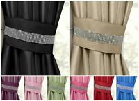 One Pair Of Luxurious Diamante Tie Backs Sparkle Bling Holdbacks Curtains Voiles