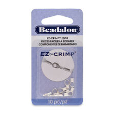 Beadalon® EZ-Crimp™ Findings Ends 8.5mm Silver Plated 10 pieces