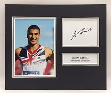 Raro Adam Gemeli Team GB Firmado Foto Pantalla + certificado De Autenticidad autógrafo Atletismo Running