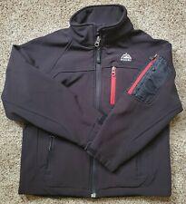 Snozu Boys Black Winter Jacket Softshell Pockets Fleece Lined Size Small 7/8