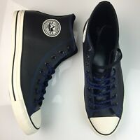 CONVERSE Chuck Taylor Leather Hi-Top Sneakers Black Mountain Club Mens 10.5 NEW