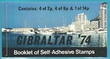 Gibraltar aus 1974 ** postfrisch Markenheftchen 1 MiNr.310-312  - 100 Jahre UPU!