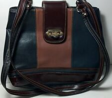Leather shoulder Handbag Made in China No brand listed. Dark green & brown