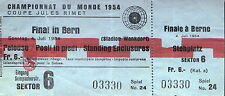 > KOPIE < einer Eintrittskarte vom WM-Endspiel Deutschland-Ungarn 1954 in Bern 2