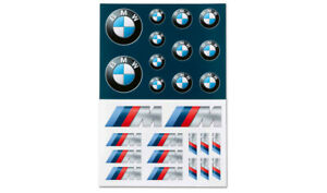 Original BMW Logo M Performance Aufkleber-Set Selbstklebende Neu 80282466211