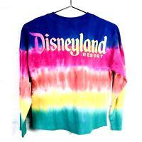 Disney Parks Kids L Spirit Jersey Disneyland Resort Rainbow Tie Dye Glitter NEW
