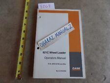 CASE 921C Wheel Loader Operator's Manual  6-30550NA