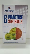 Academy Sports+Outdoors 11in Cork Practice Softballs 6Pk