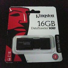 Kingston 16GB DataTraveler 100 G3 16G USB 3.0 Flash Pen Drive DT100G3/16GB t1