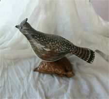 Ruffed Grouse Hand Carved & Painted Decoy by Thomas Chandler Montana