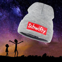 Rick And Morty Hat Get Schwifty Skully Winter Knitted Beanie Skull Cap ( Gray )