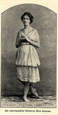 Weibliche Stars anno 1900 * Die amerikanische Tänzerin Miss Ducan