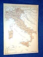 Cartina Italia dopo WW2 Seconda Guerra + Strade 1870