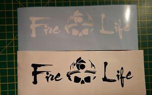 Firefighter Fire life Stickers! Fireman Fire Man Art Wall /car Decal Transfer x1